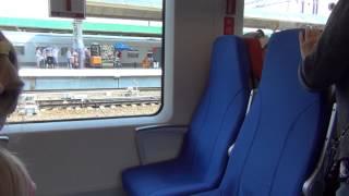 """""""Ласточка"""", скоростной поезд, вид внутри"""
