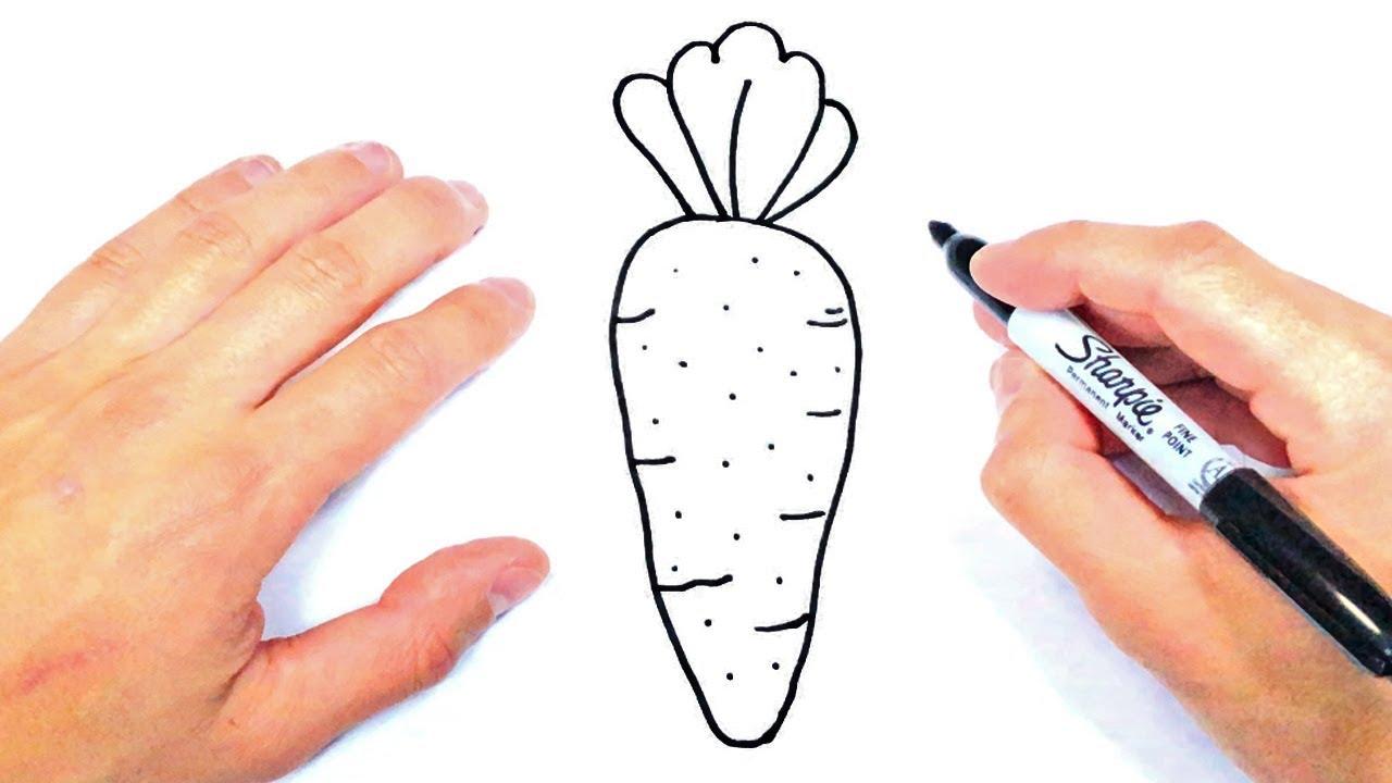 Como Dibujar Una Zanahoria Paso A Paso Dibujo De Zanahoria Youtube Es dulce, hidratante y además supone un excelente 'tentempié', para adultos y para niños. como dibujar una zanahoria paso a paso dibujo de zanahoria