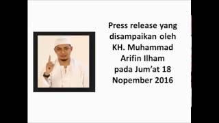 Ustadz Arifin Ilham  Menghimbau Tdk ada Aksi Tgl 25 Nov 2016