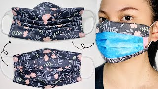 3in1 FACE MASK COVER 3D Pleated Pleated Reversed in one Mask
