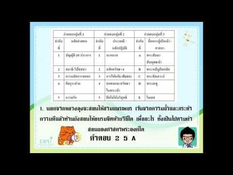 O NET สังคม ครูเดช เฉลยข้อสอบ ׃ศาสนา 2 ชั้น ป 6