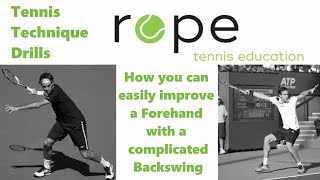 Tennis Forehand Technique - How to easily improve a complicated Forehand Backswing