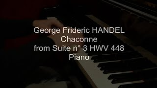 Handel Chaconne from Suite n°3 HWV 448 piano