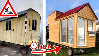 Transforming a Trailer into a Tiny House in 48h