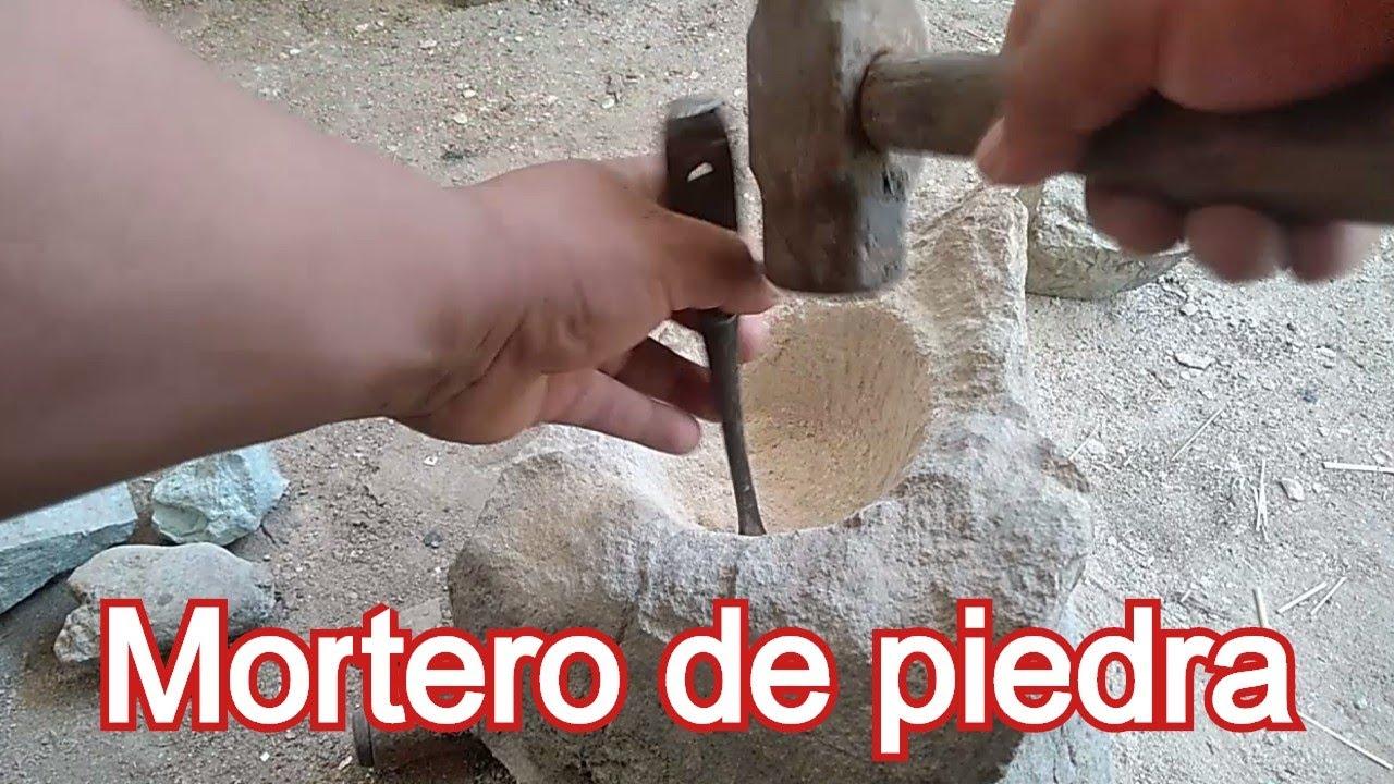 Como hacer un mortero o molcajete en casa ( AGRICULTURA ORGANICA)