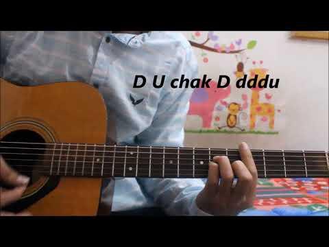 Lahore - Guru Randhawa - Hindi Guitar lesson chords tutorial With n Without capo