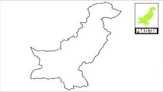 How to draw map of Pakistan // Draw Pakistan map