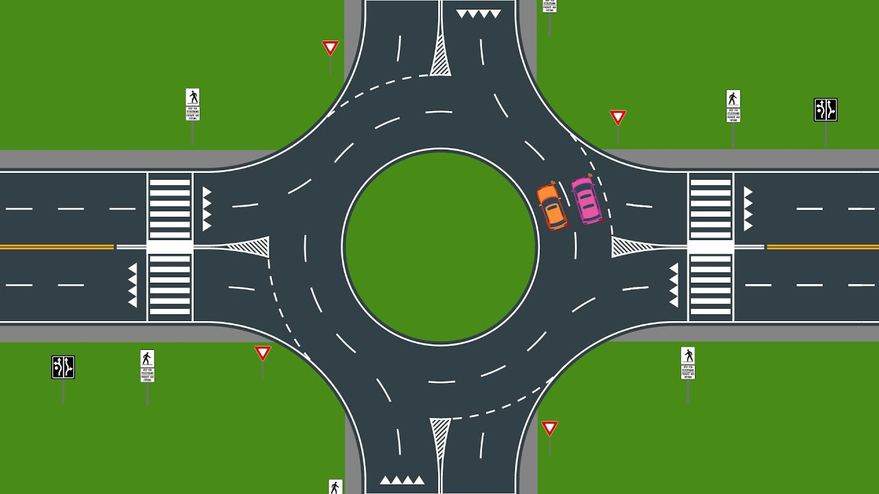 How to use a roundabout - YouTube