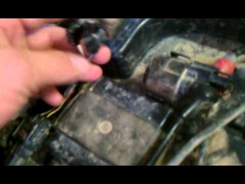 radiator fan not working on a kawasaki brute force - YouTube