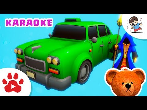 COLORS SONG [Karaoke] | For kids to learn with the MAGE & Taxi | #h DancingBear Nursery Rhymes Songs