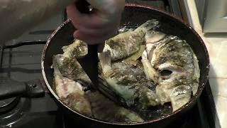 Жареный карась рецепт. Карась жареный в муке с луком и приправами