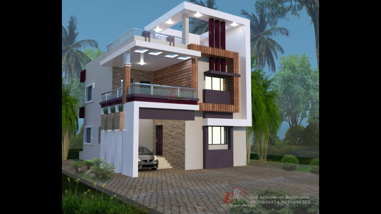 30x40 Feet Duplex House Front Elevations