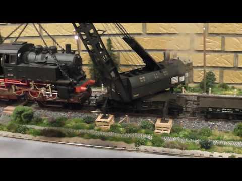 Spur 1 Exklusiv 90 tonnes steam crane (Spor 1 Messe 2016 Rolfhallen)