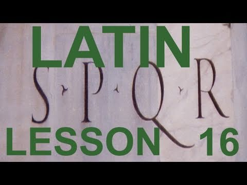 16  Do you want to learn Classical Latin? (in English) (Oral Workout 1)