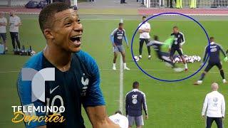 Mbappé humilla a Dembélé en el entrenamiento de Francia | Más Fútbol | Telemundo Deportes