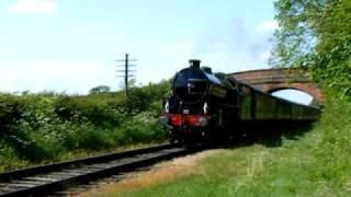 "LNER B1 1306 ""Mayflower"" Passing Congerstone (Battlefield Line Railway)"