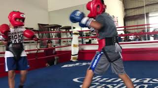 Kids Sparring at the Balderas Training Camp