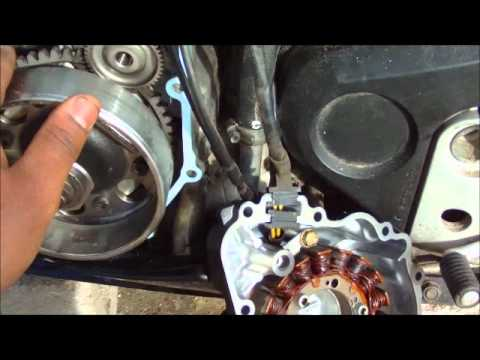 110 Atv Wiring Diagram 2001 Honda Cbr 929rr Stator Cover Removal Install Youtube