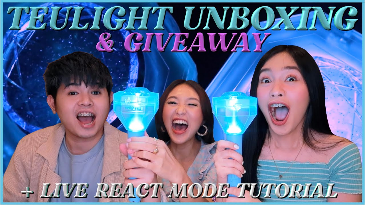 UNBOXING TEULIGHTS [TREASURE LIGHT STICK] 💙💚💜  & GIVEAWAY!!! + LIVE REACT MODE TUTORIAL 💎