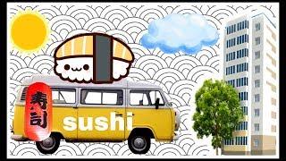 Палатки с едой возле дома. Соня любит суши))) Vlog.