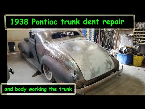 38 Pontiac Coupe Trunk Dent repair and body work