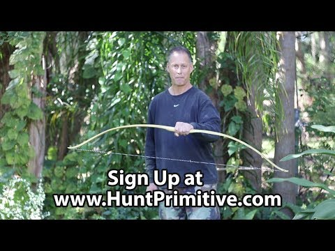 Learn how to build a bow in person. Take a class!