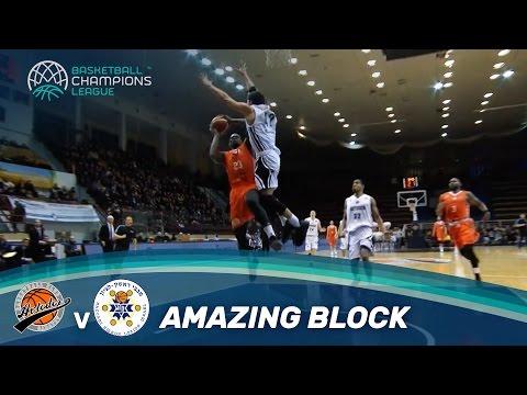 Amazing block by Michael Carrera against Javon McCrea!