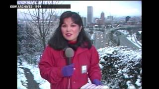 Archive 1989: KGW storm coverage with Tracy Barry