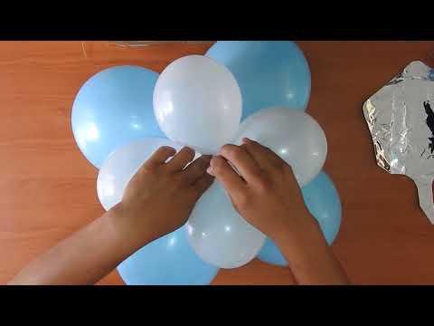 Como hacer un centro de mesa FÁCIL! con globos! | FESTIRAMA