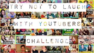 try not to laugh with youtubers challenge funny moments