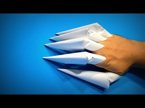 Origami Claws   How to Make Paper Claws Godzilla Halloween   Easy Origami ART   Paper Crafts