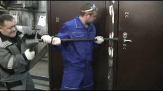 тестирование стальной двери Н-102