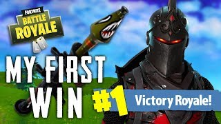 MY FIRST WIN in FORTNITE BATTLE ROYALE