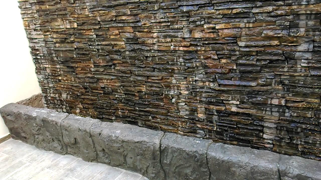 Muro lloron muro de agua youtube for Cascada de agua para jardin