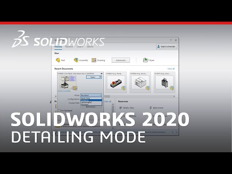 What's New in SOLIDWORKS 2020 - Detailing Mode