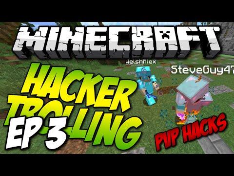 Minecraft: HACKER TROLLING EP3! - JESUS, FLY, PVP HACKS