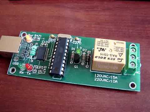 KMTronic USB Eine Channel Relay für MACH3 CNC software BOX