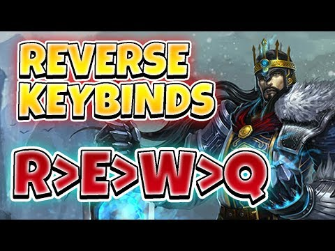 REVERSE KEYBINDS CHALLENGE!! DOES IT EFFECT ME?!  League of Legends Full Gameplay