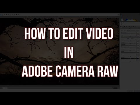 How to edit Video in Adobe Camera Raw