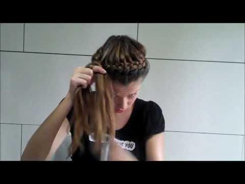 Прическа корзинка своими руками (солнышко, паутинка), Original hair tutorial