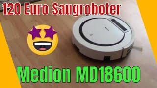 Medion Saugroboter MD18600 unboxing & Test saugt der was?
