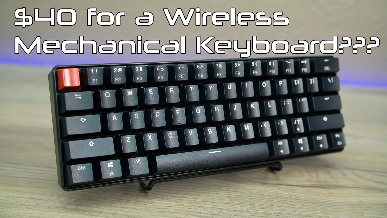 The $40 Wireless Mechanical Keyboard! Velocifire KB61WS Review