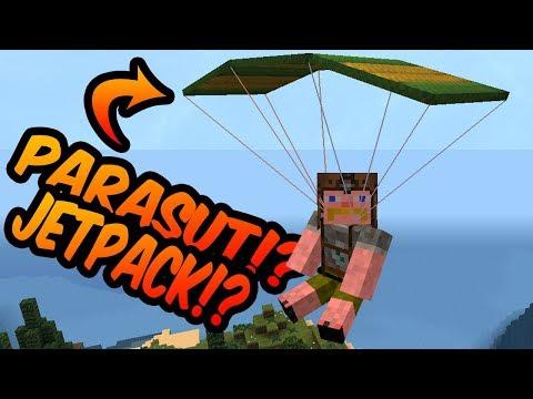 PARASUT TERCANGIH DI MINECRAFT!? ADA NITRONYA!!! - Minecraft Mod Showcase