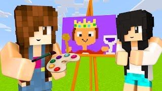 Minecraft Pixel Painters - DESENHANDO COM A MAMIS