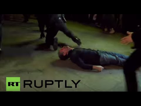 Germany: Police smash innocent bystander unconscious during Hamburg clashes