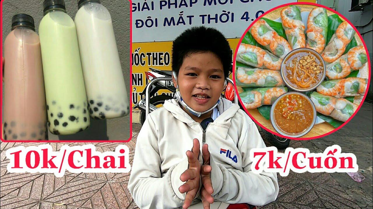 """Cậu Bé Bán Me, Quảng Cáo Món Ăn Mới """"Gỏi Cuốn Tôm, Thịt"""" Và """"Trà Sữa"""" Mang Đi   Barina TV"""