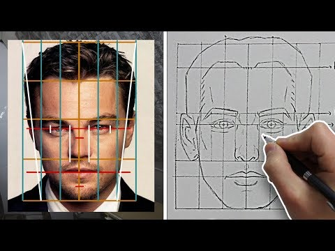 How to Draw FACES with ACCURATE PROPORTIONS & FEATURES (Front View) - Tutorial thumbnail