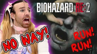 BIOHAZARD RE:2 GAMEPLAY!! I HATE HORROR GAMES! RUN RUN RUN!