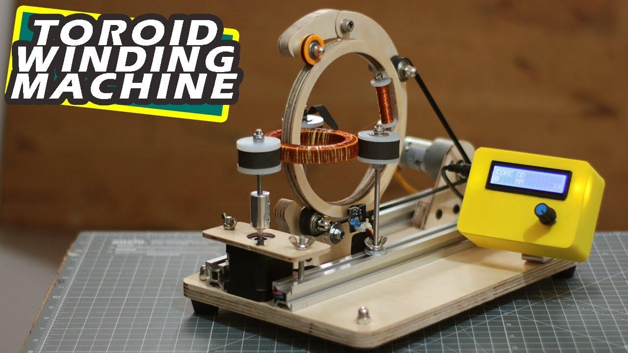 DIY Arduino based Toroid coil winding Machine   Arduino project
