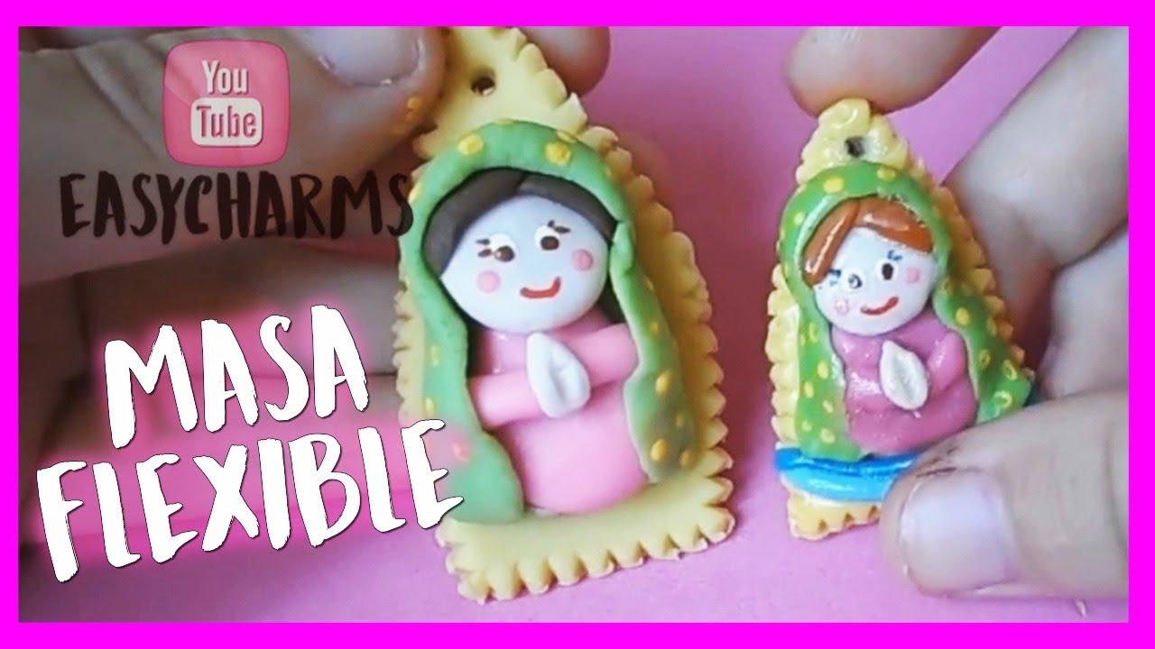 Como Hacer Virgencita En Masa Flexible Cold Porcelain Easy Fácil Youtube